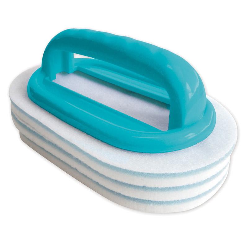 Brosse ligne d'eau avec tampons interchangeables