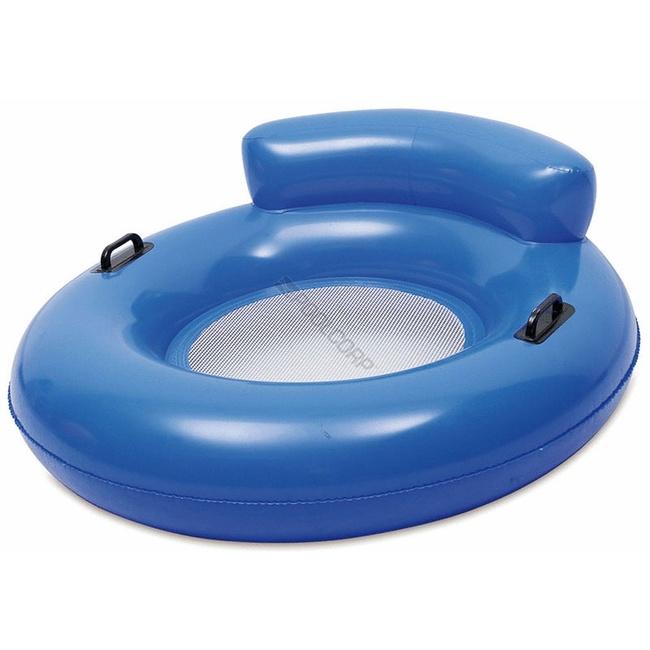 Bouée fauteuil pour piscine Bleue