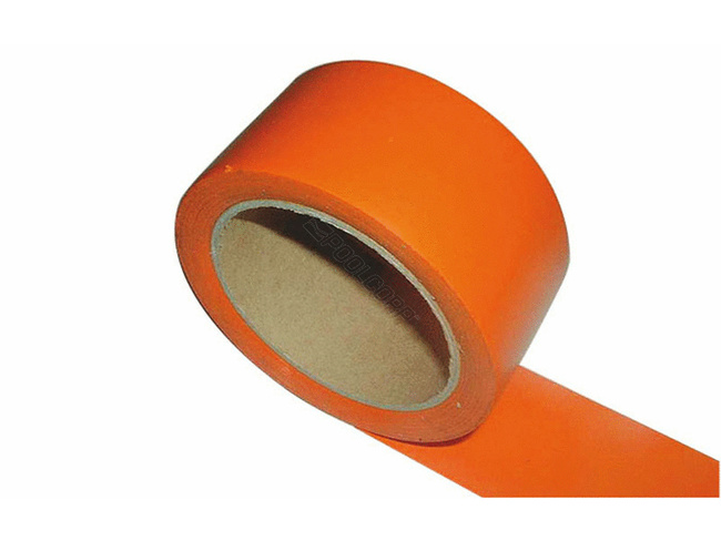 SCOTCH EN ROULEAU ORANGE 5 CM LARGEUR