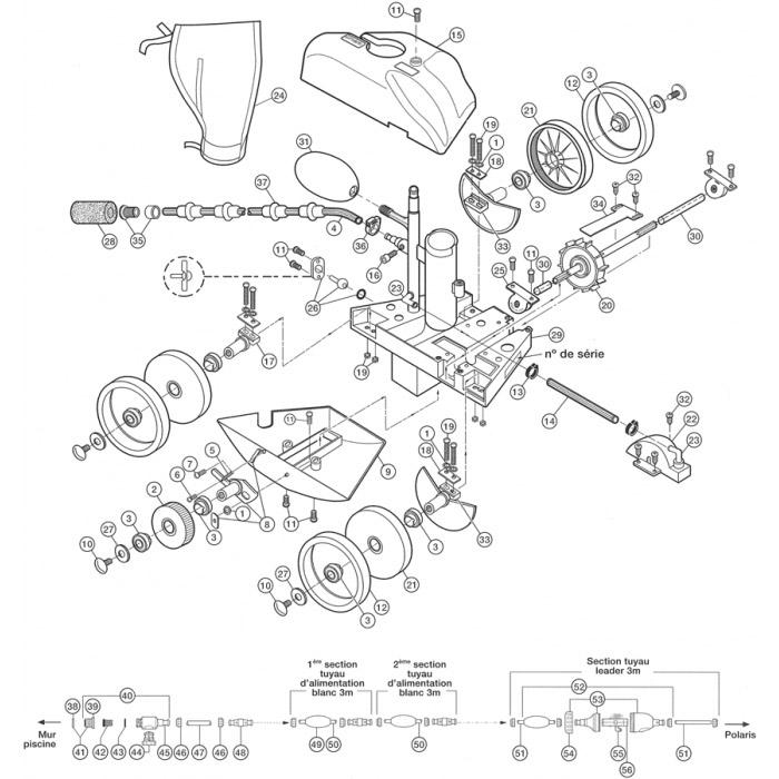 Pièces détachées pour Robot POLARIS 180/280/
